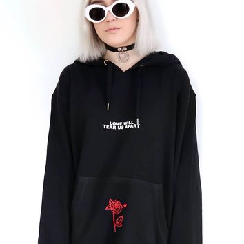 Love Will Tear Us Apart Hoodies