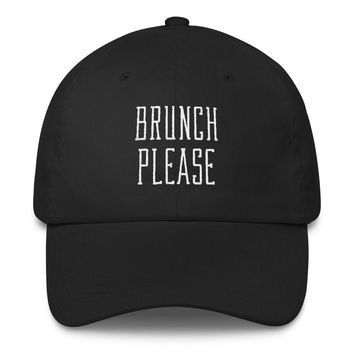 Brunch Please Classic Dad Cap | The Inked Elephant