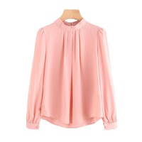 Autumn 2017 New Fashion Women's Blouses Long Sleeve Office Lady Tops Casual Chiffon Blouse Blusas Shirt Women Tops Ladies Blouse