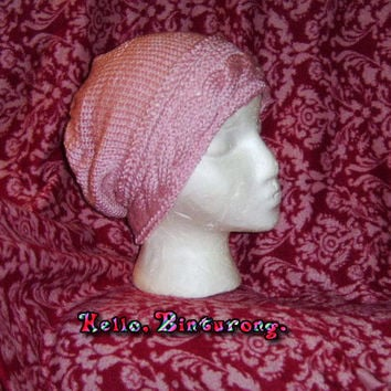 Cable Band Slouch Hat