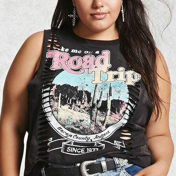 Plus Size Graphic Muscle Tee