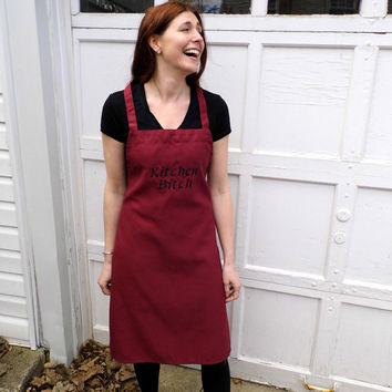 Kitchen Bitch Apron - Embroidered and Personalized Apron