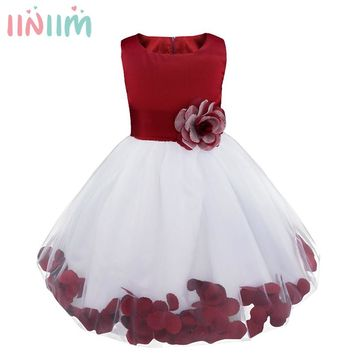 16 Color Hot Girls Summer Dress Formal Wedding Vestidos Dresses Teenager Embroidered Party Tutu Dress Kids Costume Party Gifts