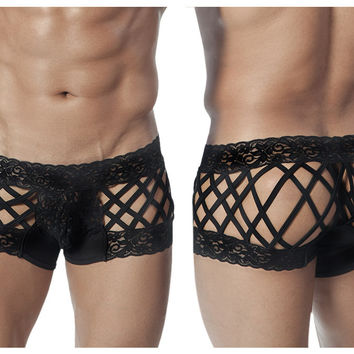 CandyMan Cage and Lace Boxer Brief