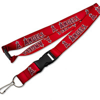 Los Angeles Angels Lanyard - Red
