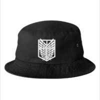 ATTACK ON TITAN white Bucket Hat - Bucket Hat