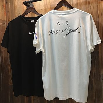 FOG x NBA x NIKE Sports Loose Round Neck Half Sleeve T-Shirt