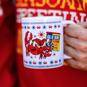 Crabby Holiday Old Bay (White) / Mug