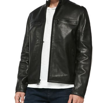 Luxe Leather Moto Jacket,