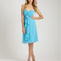 A Short Strapless Dress With A Ruched Sweetheart Neckline Cocktail Dress AB1251