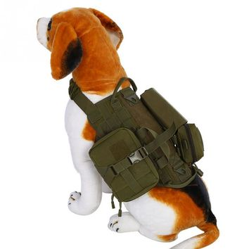 Hunting Vest for Dog Harness Vest Walking Hiking Hunting Tactics Military Water-Resistant MOLLE Training Harness for Service Dog