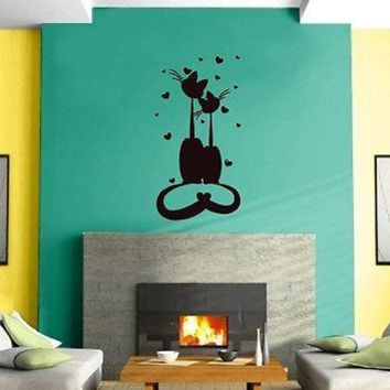 Wall Sticker Vinyl Decal Cats Pets Love Friendship Animals Funny Kids Funny Unique Gift z460