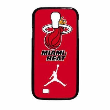 CREYUG7 Miami Heat With Nike Jordan Samsung Galaxy S4 Case
