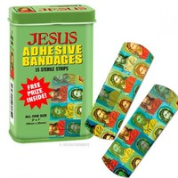 Accoutrements Jesus Band Aids Kitsch Unique Gift Joke Novelty Bandages