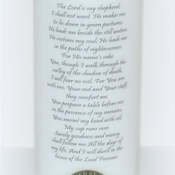 Military candle, Psalm 23, inspiration candle, Veteran's Day candle, Christian Candle, patriotic candle, everlasting candle, veterans candle