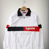 Supreme Cotton Patchwork Jacket White