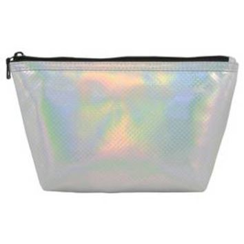 Contents Clutch Assorted Silver/Gunmetal Make up Bag