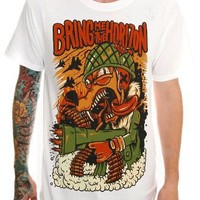 Bring Me The Horizon Trigger Happy Slim-Fit T-Shirt 3XL Size : XXX-Large