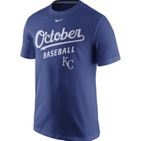 "Nike Men's Kansas City Royals ""October Baseball"" Royal T-Shirt 