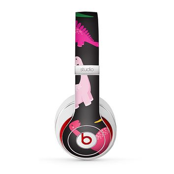 The Vector Neon Dinosaur Skin for the Beats by Dre Studio (2013+ Version) Headphones