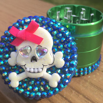 GRINDER -- MINIS Collection -- Blue/Green Sugar Skull