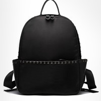 Studs Faux Leather Backpack