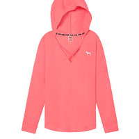 Strappy Front Varsity Pullover Tunic - PINK - Victoria's Secret
