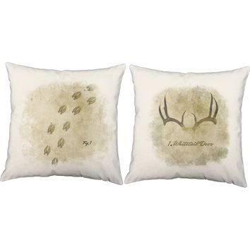 Deer Tracks Throw Pillows