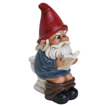 Big Mouth Toys Gnome on a Throne Statue