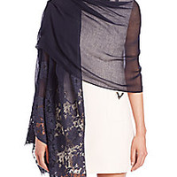 Valentino - Lace-Trimmed Scarf - Saks Fifth Avenue Mobile