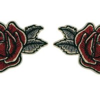 Fuzzy Dude Antique Rose Patch Set Accessories Patches at Broken Cherry