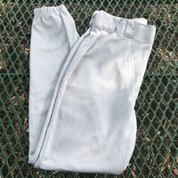 RUSSELL ATHLETIC GRAY Baseball Pants, Size Adult M