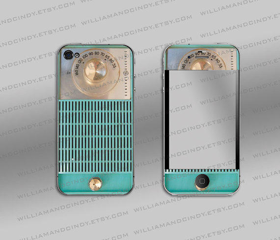 Iphone 4 cover - Vintage Radio