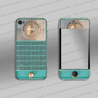 Iphone 4s cover  Vintage Radio Decal by williamandcindy on Etsy