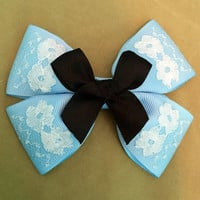 Alice in Wonderland Blue Disney Hair Bow