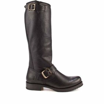 Frye Boot Veronica Slouch Black Knee High