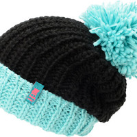 Neff Girls Sofia Black & Blue Fold Beanie