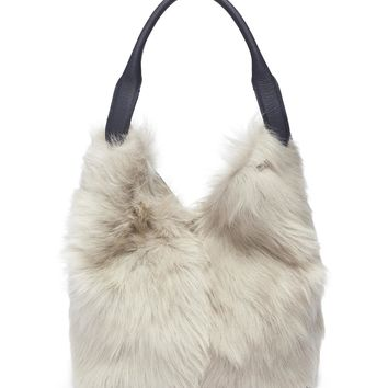 Anya Hindmarch | 'Build A Bag' small shearling and leather crossbody bag | Women | Lane Crawford - Shop Designer Brands Online