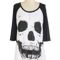 ModCloth Skulls Mid-length 3 Spook Your Mind Tee
