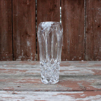 Small Vintage Lead Glass Vase | Wedding Decor