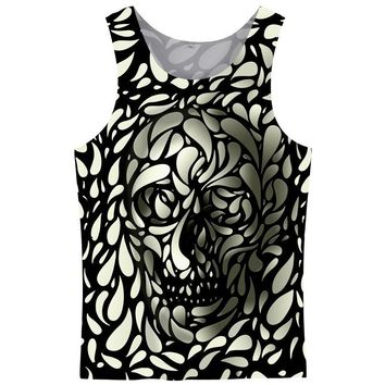 3D Tank Tops Men Sleeveless Hot Design Summer Fashion Casual Tops 3D Skull Print Vest Plus Size 5XL