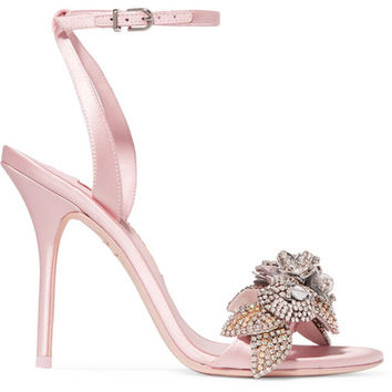 Sophia Webster - Lilico crystal-embellished satin sandals