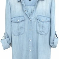Rails Marlow Button Down Blouse in Vintage Wash