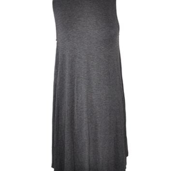 Turtleneck Shift Dress - Charcoal