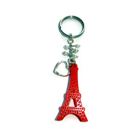 Red Eiffel Tower Key Chain