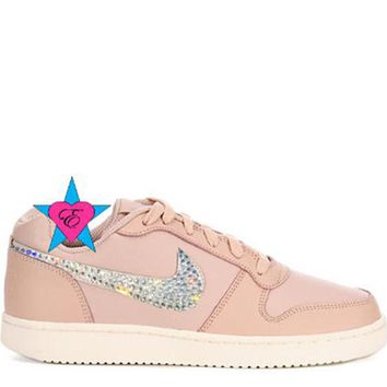 Crystal Women's Sneakers | Ebernon Low Fashion Pink Beige