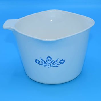Corning Ware Cornflower Measuring Cup Vintage 1 Qt 4 Cup 32 oz Saucemaker Measuring Bowl 3 Pour Spout P 55 B Replacement Corningware