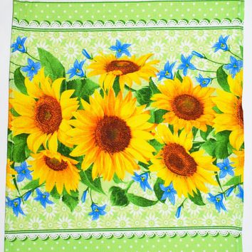 "Cotton towel ""Sunflowers"""