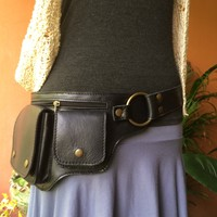 Leather Belt Bag | Fanny Pack | Hip Purse | Passport iPhone Utility Belt - HIPSTER