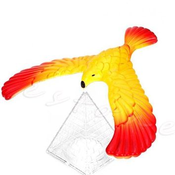 QIYIF new magic balancing bird science desk toy w base novelty eagle fun learn gag baby child gift